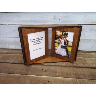 Esküvői képkeret - Szülőköszöntő ajándék