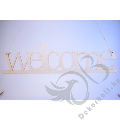 Ajtódísz welcome