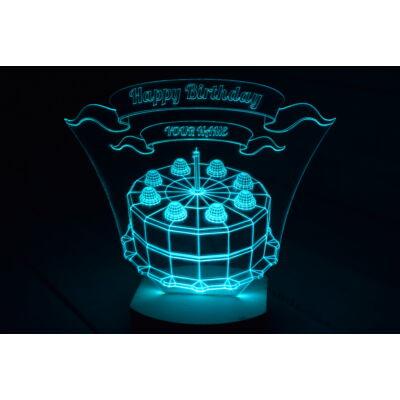 Boldog születésnapot LED lámpa