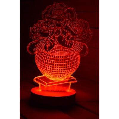 Virágos LED lámpa