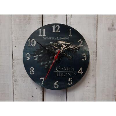 Trónok harca fali óra - Stark ezüst logó
