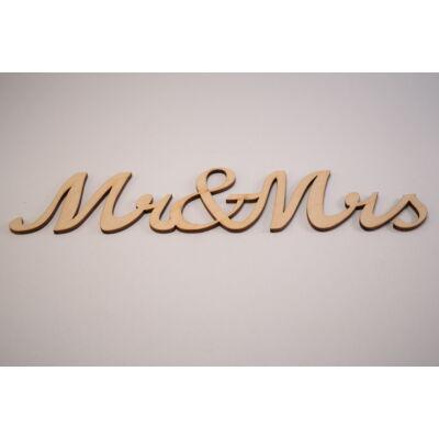 Mr&Mrs felirat decorációk