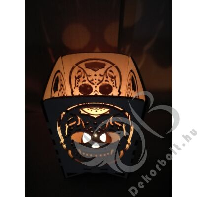Halloweeni Csontváz Fej mécsestartó