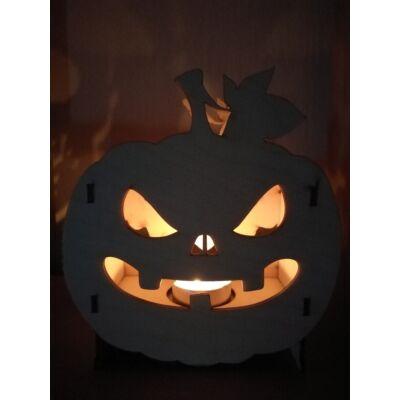 Halloweeni Tökfej Mécsestartó